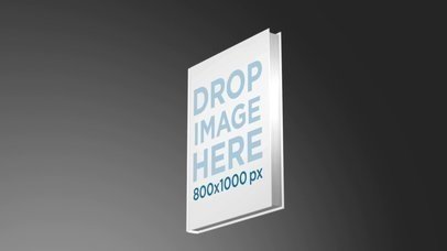 Hardcover Book Mockup Floating in a Dark Room a16106