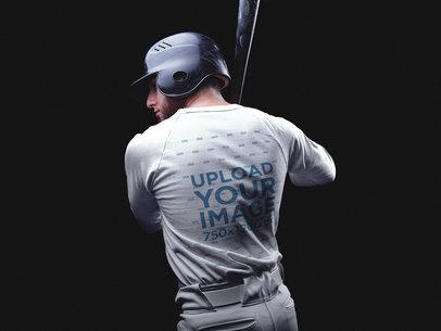 Custom Baseball Uniform Builder - Back of a Man
