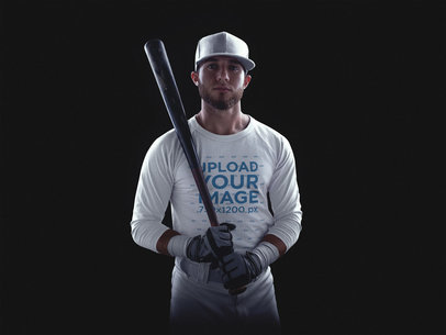 Baseball Uniform Designer - Front Shot of Batter a15988