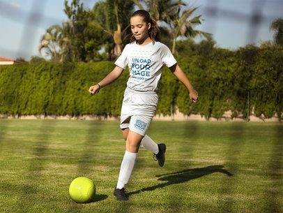 Custom Soccer Jerseys - Kid About to Hit a Goal a16387