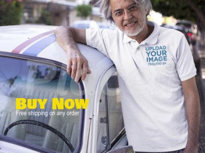 Facebook Ad - Senior Man Wearing a Polo Shirt While Outdoors a15750