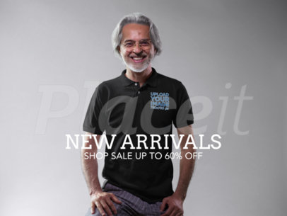 Facebook Ad - Happy Elder Guy Wearing a Polo Shirt a15743