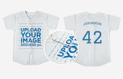 Baseball Uniform Builder - Jersey Both Sides Against Solid Backdrop