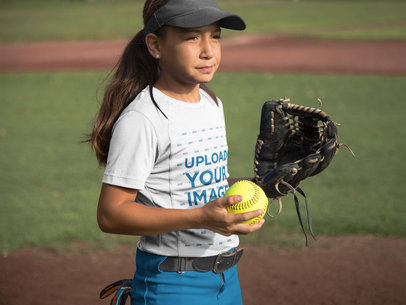 Custom Softball Jerseys - Girl at a Match a16816