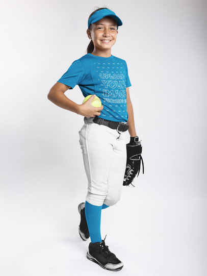 Custom Softball Jerseys - Girl Standing Inside a Studio a16808