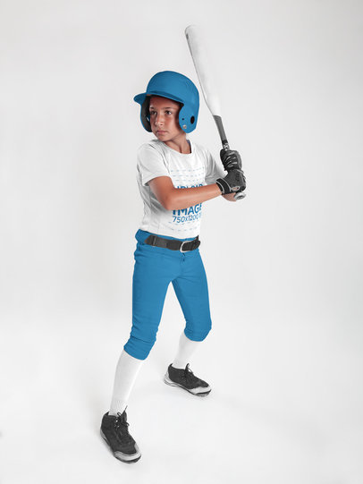 Custom Softball Jerseys - Focused Girl Holding the Bat a16815