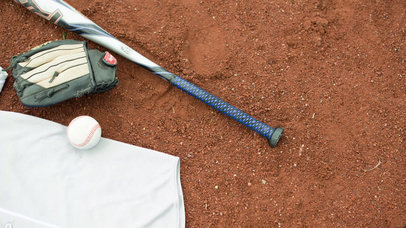 Baseball Uniform Builder - Video of a Jersey Lying on a Dirt Field a16933