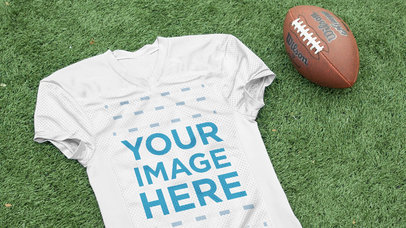 Custom Football Jerseys - Jersey Lying on the 50th Yard a16934