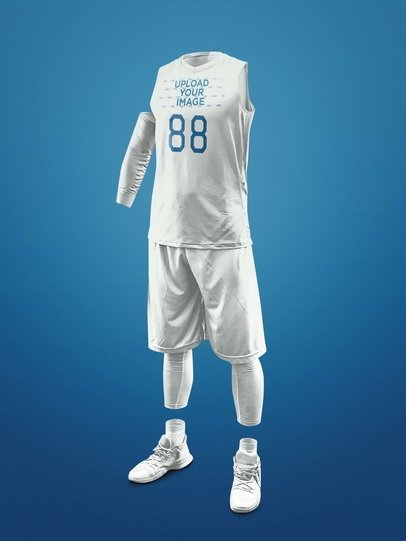 Basketball Jersey Maker - Ghosted Basketball Uniform a16440
