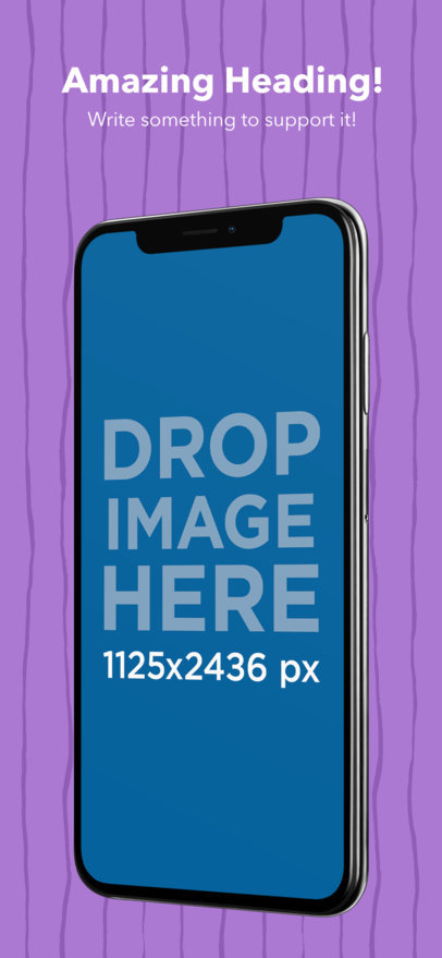 Appstore Screenshot Maker of an Angled Space Gray iPhone X a17412