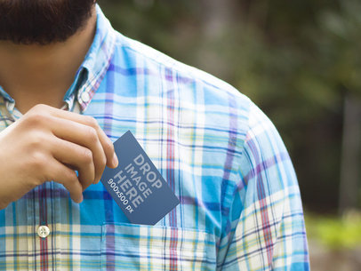 Business Card In A Pocket