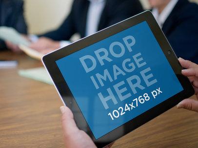 Black iPad Retina Display Business Meeting