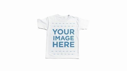 Video Mockup in Stop Motion of a Round Neck Tee Rolling Out Over a White Surface a13225-122216