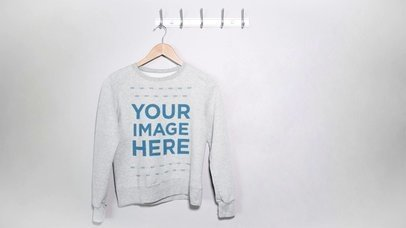 Crewneck Sweatshirt in a Hanger Apparel Video a13274