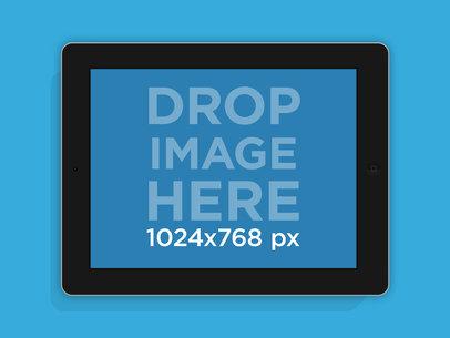 Black Landscape iPad Mockup