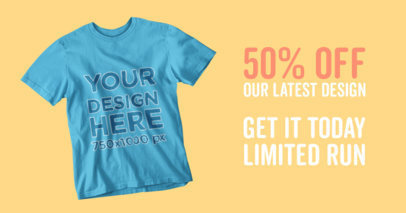Simple Facebook Ad Template - Facebook Ad Maker for T-Shirts