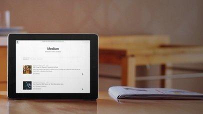 iPad On Wooden Kitchen Table