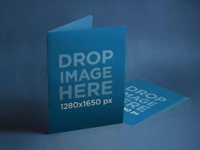 Branding Mockup Featuring a Set of Folders a6406
