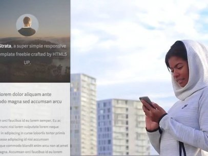Woman on a Rooftop Using an iPhone App Demo Video a8323