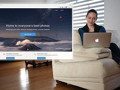 Woman at Home Using a Macbook Pro App Demo Video a8549