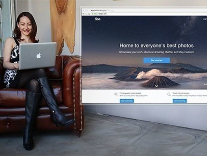 Macbook App Demo Video of a Woman at an Advertising Agency z8564