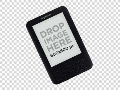Angled Top Shot Amazon Kindle Keyboard Mockup a11818print