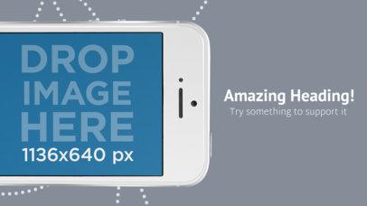 Upper iPhone 7 White Landscape App Store Screenshot Generator