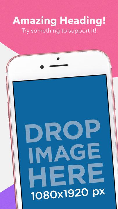 Diagonal Pink iPhone iOS Screenshot Maker