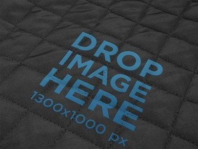 Black Cotton Texture Logo Mockup a14824