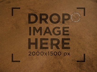Shammy Texture Leather Logo Mockup a14915